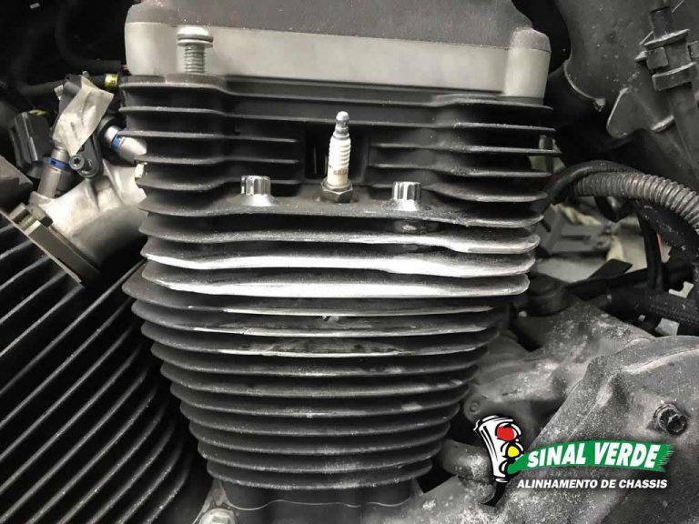 Restauração de bloco de Motor de Moto em ferro fundido, aço inox, alumínio